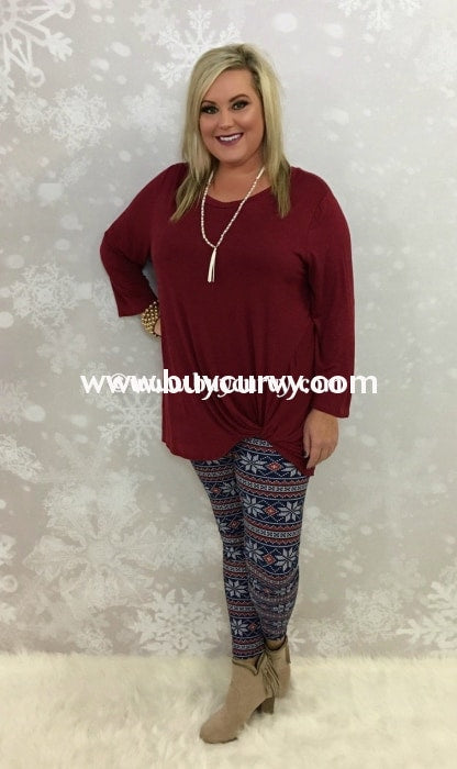 Leg/sss-Blueberry/frost Snowflake Printed Leggings
