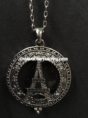 Nc-A 30 Long Necklace Eiffel Tower With Magnifier