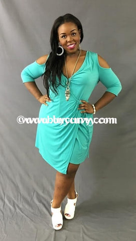 Ocs-A Destiny 101Teal Wrap Around With Tie Waist Sale!! Open Shoulder