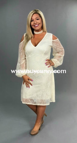 Ocs-N Symphony Ivory Open-Shoulder With Lace Overlay {Sale!!} Open Shoulder