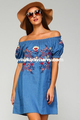Off-Denim Off Shoulder Floral Sale!!