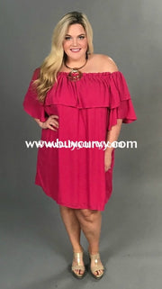 Off-I {Red Carpet Look} Fuchsia Off-Shoulder With Lining {Sale!!} Off Shoulder