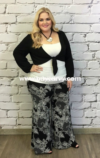 Ot-A Midnight Sheer Cardigan With Tie Up Front Outerwear