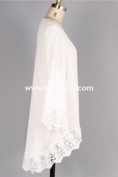 Ot A White Cardigan With Crochet Lace Detail Curvy