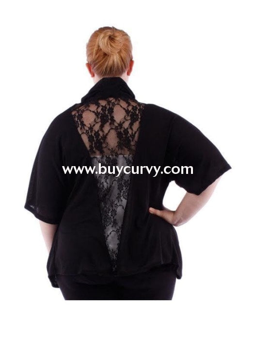 Ot-C Black With Lace Back Detail Sale!! Outerwear