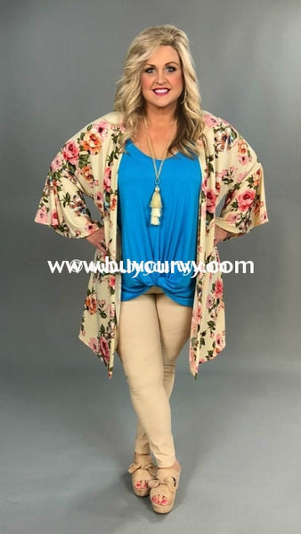 Ot-C On The Road Again Floral Cardigan With Bell Sleeves Outerwear