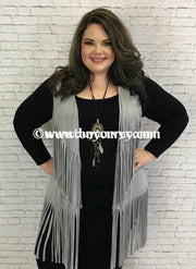 Ot-C Sale!! Heather Gray With Fringed Detail (Viscose-Spandex) Outerwear