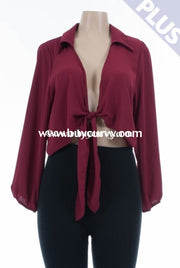 Ot-E Scarlet Sheer Cardigan With Tie Up Front Outerwear