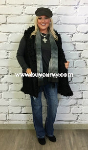 Ot-E Umgee Black Knit With Fur Lining & Pockets Sale!! Outerwear