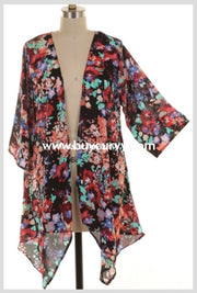 Ot-F Pray For Me Black Multi Floral Print Cardigan {Sale!!} Outerwear