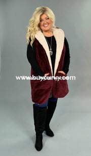 Ot-G {Life Of The Party} Burgundy Fleece With Hood Sale!! Outerwear