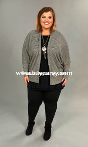 Ot-H {Simplicity Is Key} Grey Ribbed Cardigan Outerwear