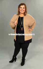 Ot-H {Simplicity Is Key} Mocha Ribbed Cardigan Outerwear