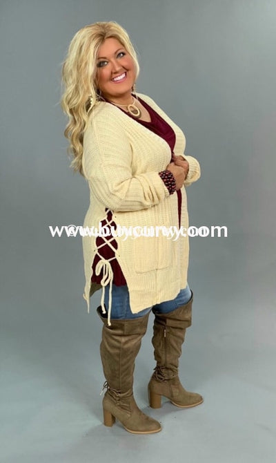 Ot-H {Very Impressive} Ecru Cardi With Pockets Sale!! Outerwear