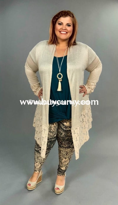 9511f57de Ot-I Alabaster Cardigan With Lace/crochet Back Outerwear