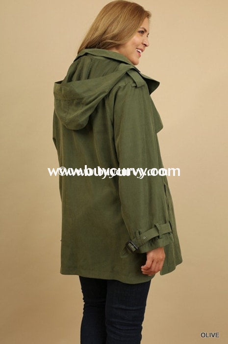 Ot-K Umgee Olive Double Breasted Sale! Outerwear