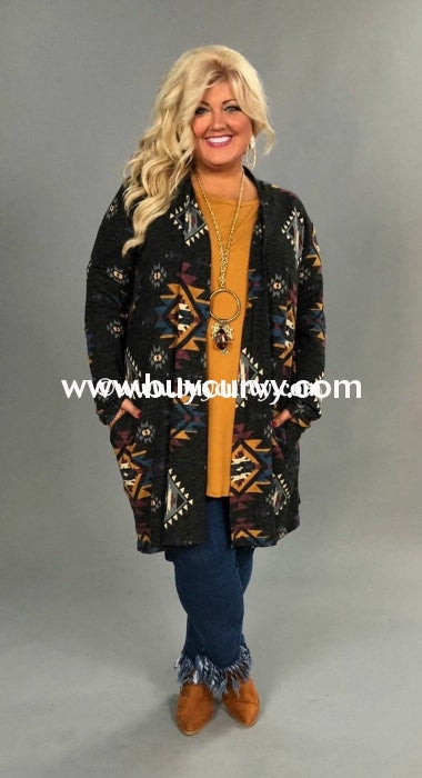 Ot-K {You Can Have It All} Aztec Print Soft Knit Cardi Sale!! Outerwear