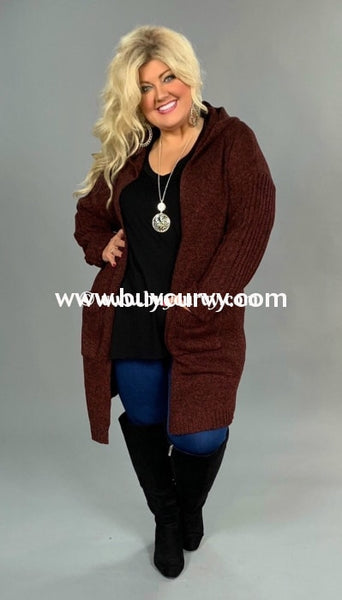 Ot-R {Life Of Riley} Burgundy Knit With Hood Sale!! Outerwear