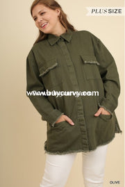 Ot-R Umgee Olive Green Snap Up Army With Pockets Sale!! Outerwear