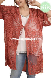 Ot-Z {People Will Admire} Umgee Rust Lace Cardi Sale!! Outerwear