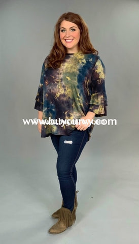 c226accdac3 Pls-A  Gee Whiz  Multi-Color Tie-Dye Top With Layered