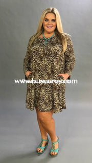 Pls-E Leopard Print With Long Sleeves & Pockets {Extended Plus} Pls