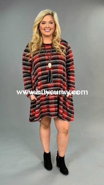 Pls-H {Fashion Show} Red/black Knit With Side Pockets Extended Plus Sale!! Pls