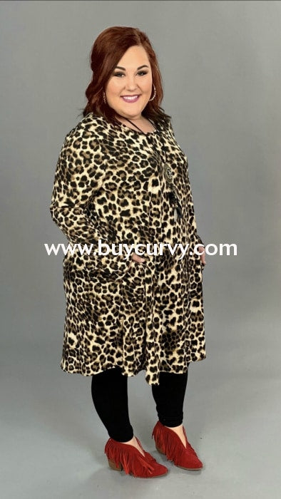 Pls-H {Wild & Free} Leopard Print Dress With Side Pockets Extended Plus Pls