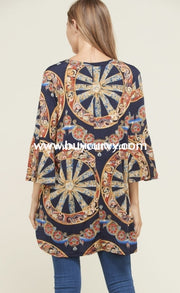 Pq-A {Halfway There} Navy/multi Mandala With Pockets Sale!! Pq