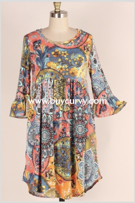 Pq-B {Over The Rainbow} Floral Babydoll Dress Pq