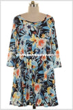 Pq-E {Tropical Oasis} Floral Print With Side Pockets {Sale!!} Pq