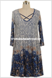 Pq-K {Marvelous Makayla} Blue/cream Paisley Criss Sale!! Pq