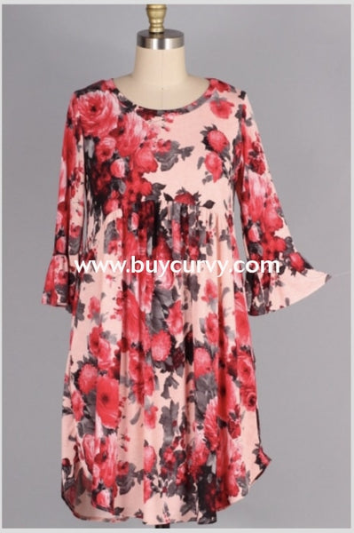 Pq-P {Second That Emotion} Floral Babydoll Tunic With Pockets Pq