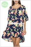 Pss-F Oh Happy Day Navy Floral Ruffle Hi-Lo {Sale!!} Pss