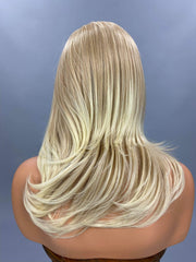 "{Melissa} 20"" Blonde Long Straight Headband Synthetic Wig"