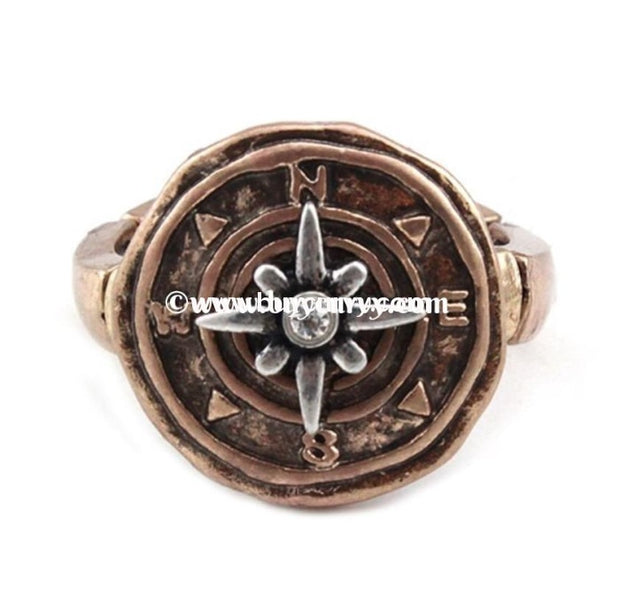 Rg-Story Stretchy Compass Ring Gold Rings