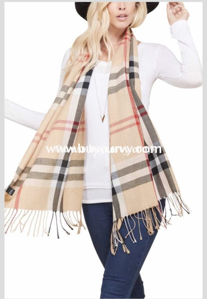 Scarf-{To The Nines} Burberry Print Fringed Sale!! Scarves