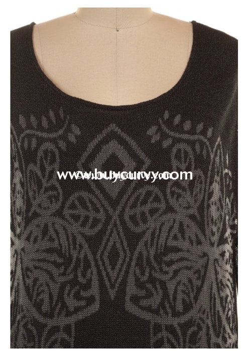 Sd-F Selfie Couture Charcoal-Gray Sweater With Cami Layer Solid With Detail