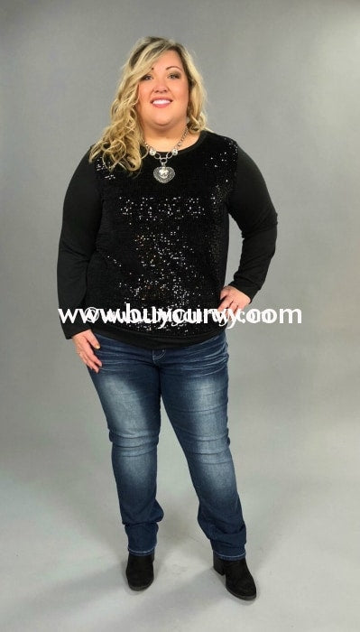 Sd-L {Love Never Fails} Black With Sequined Front Sale!! Solid With Detail