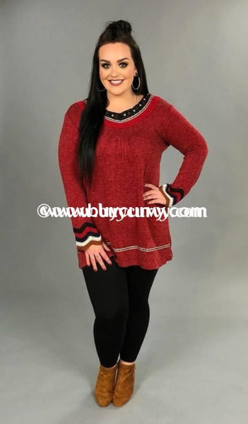 Sd-Q Red With Crochet Neckline & Sleeves Sale!! Solid With Detail