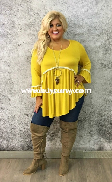 Sd-Y Auditions Mustard With Crochet Detailing Sale! Solid With Detail