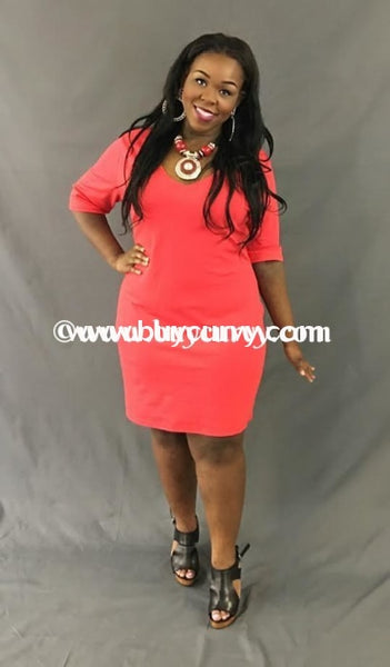 Sd-Z Sale!! Red Bodycon With Black Lace V-Neck Back Detail Solid With