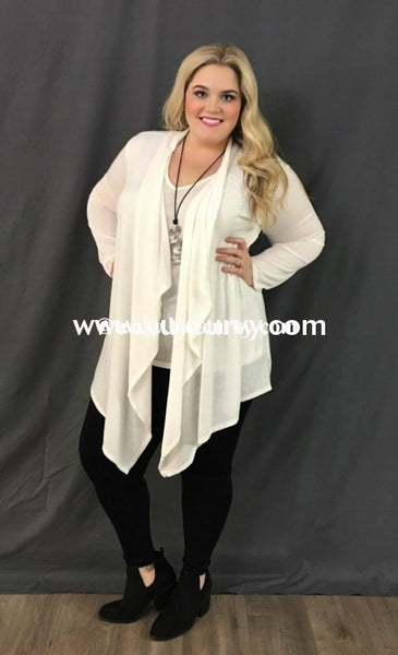Set-F Ivory 2-Piece Cardigan Set
