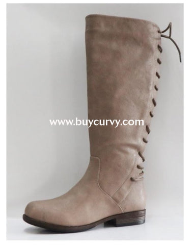 9c0569296b8 Shoes  Bamboo  Taupe Boots With Back Lace Up Design Shoes