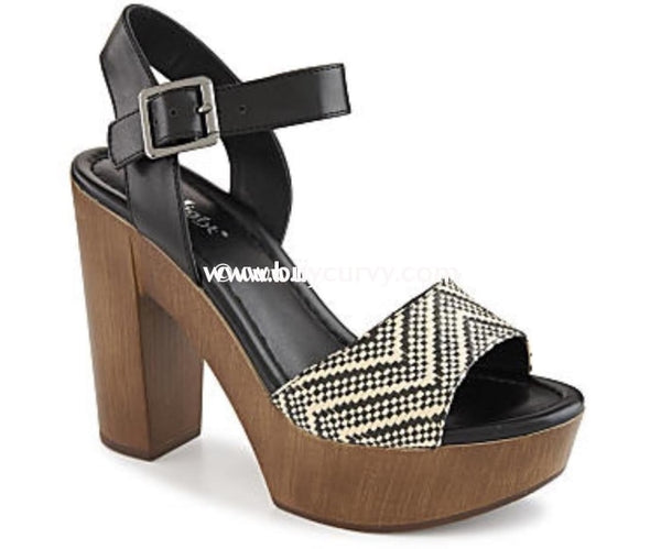 Shoes-Limelight Beige/black Chevron Print Sale Shoes