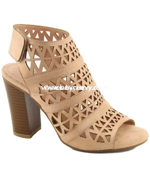 Shoes Nature Breeze Beige Suede Detailed Booties With Heel Sale! Shoes