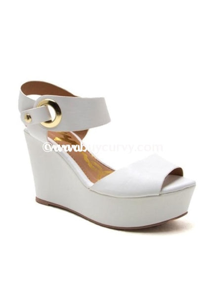 Shoes-Qupid White With Open Toe Sale Shoes