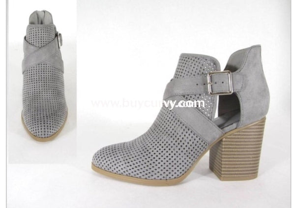 Shoes Timberwolf Suede Booties W/ Side-Cut & Buckle Detail Sale! Shoes