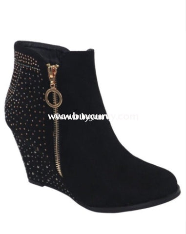 Shoes Weeboo Midnight Suede Booties W/ Rhinestone Detail Sale! Shoes