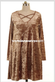Sls-F Hazelnut Velvet With Criss-Cross Detail Sale! Sls